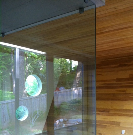 Interior remodel, glass panels